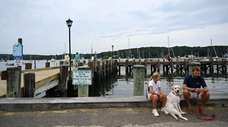 Northport Village Park faces a boat-studded harbor and