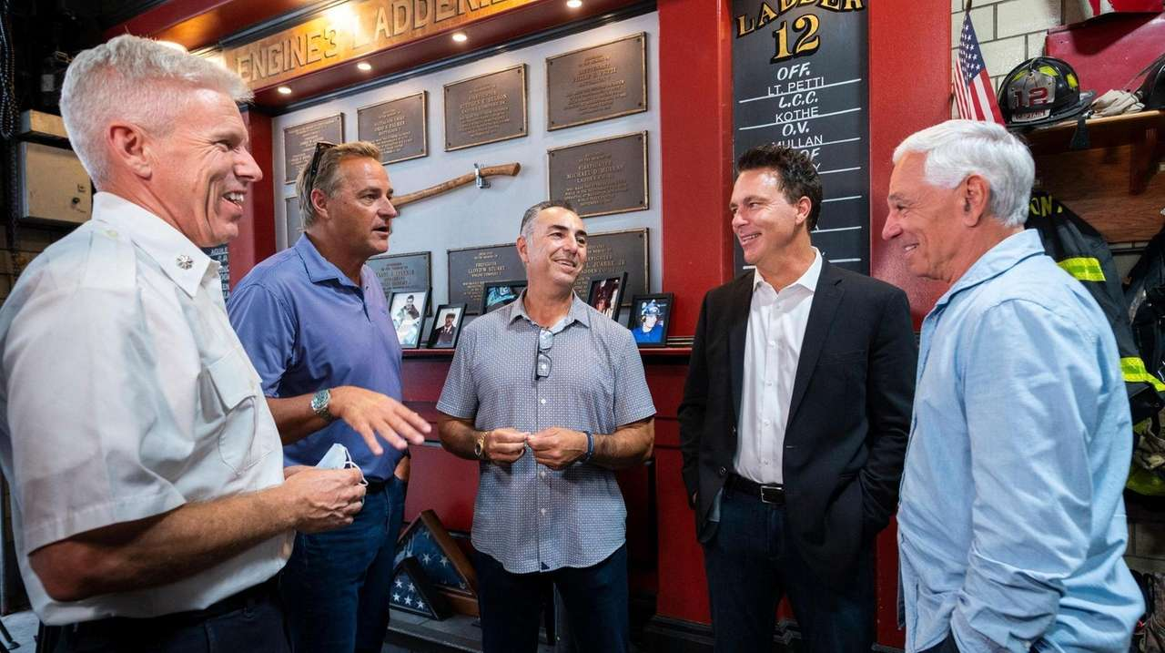 Al Leiter, John Franco, Todd Zeile and Bobby