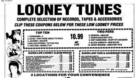 An ad for Looney Tunes from the Dec.