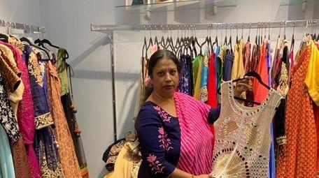 Poonam Jain, 59, owns Vastra Indian boutique in