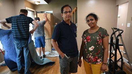 Harisankar and Tanuja Rasaputra at their new home