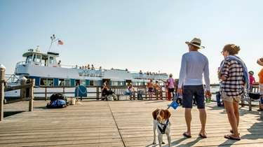 Visitors to Fire Island wait for the ferry