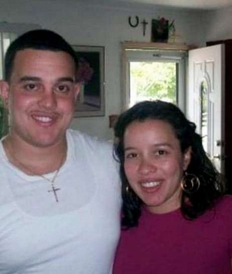 Kelly Alvarado-Young with her brother Michael in 2009.