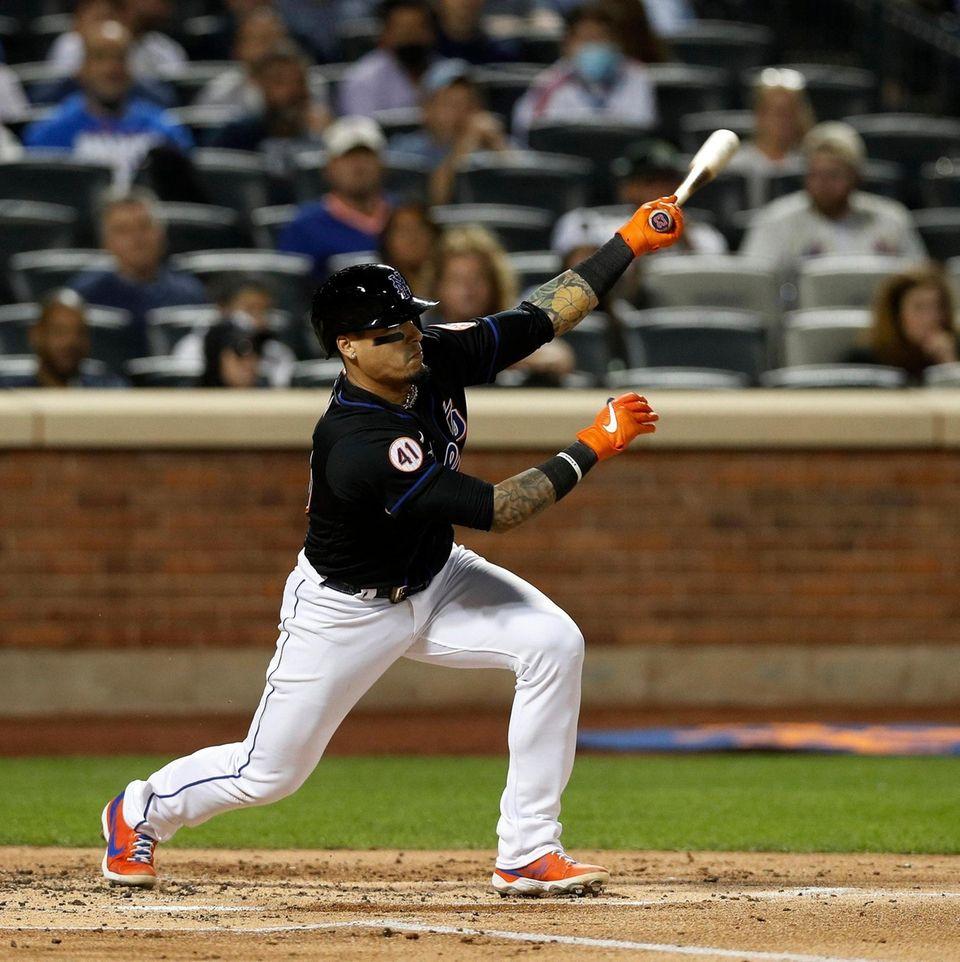 Javier Baez #23 of the New York Mets