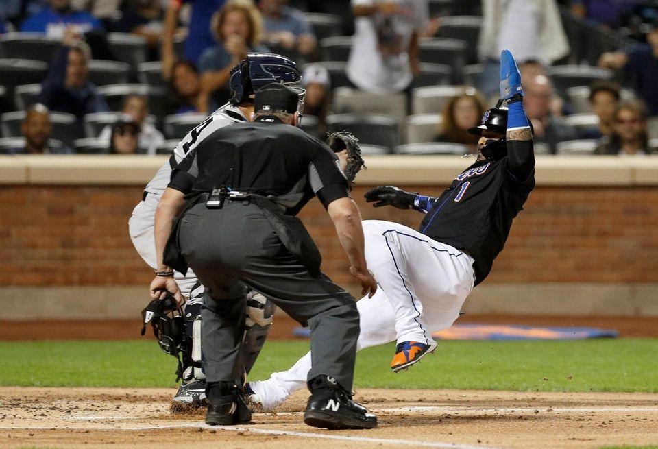 Jonathan Villar #1 of the New York Mets