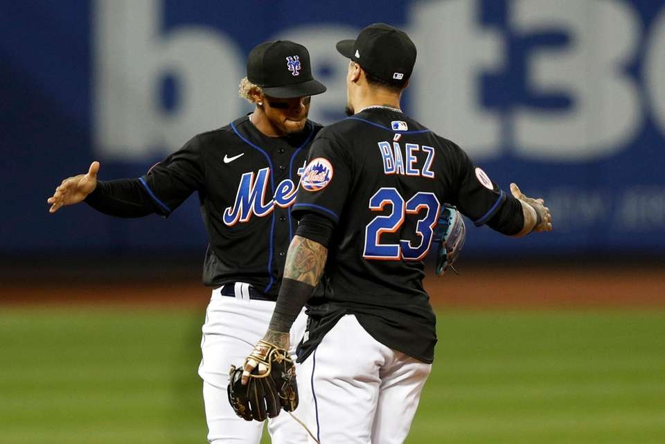 Francisco Lindor and Javier Baez of the Mets