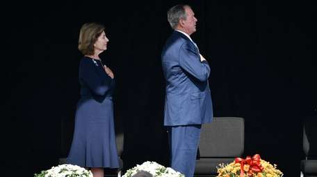 Former President George W. Bush and first lady