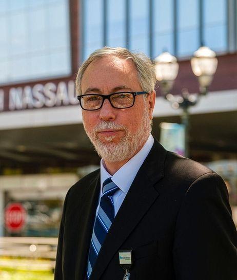 Dr. Aaron Glatt outside Mount Sinai South Nassau