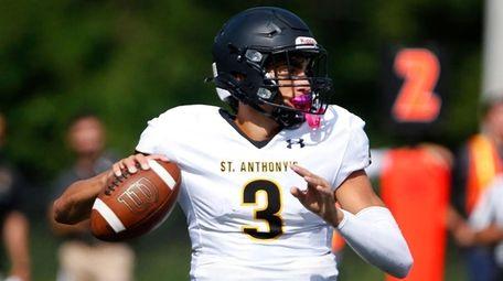 St. Anthony's quarterback Dante Torres drops back to