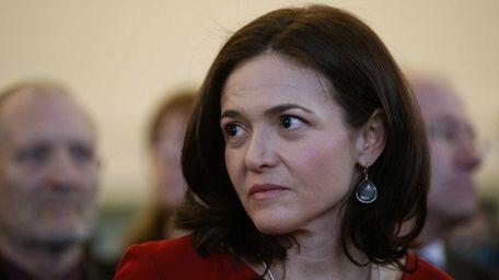 Sheryl Sandberg, chief operating officer of Facebook Inc.,