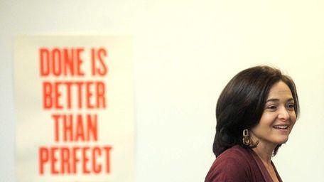 Sheryl Sandberg, chief operating officer of Facebook Inc.