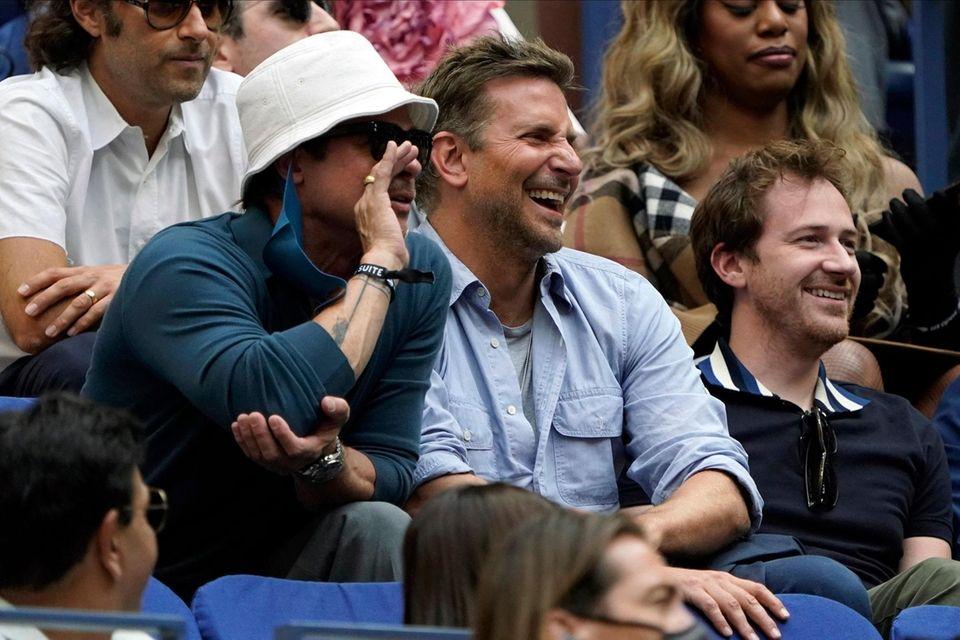 Brad Pitt, left, Bradley Cooper, center and Joseph