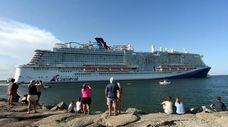 Carnival Cruise Line's new ship, Mardi Gras, sets