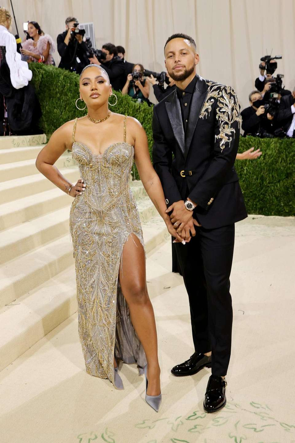 Ayesha Curry and Stephen Curry attend The 2021