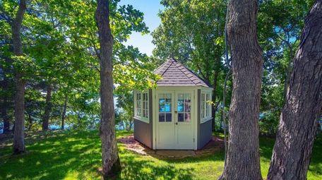The author's hexagonal writing hut.