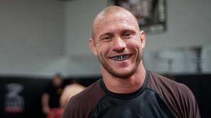 "UFC lightweight contender Donald ""Cowboy"" Cerrone poses at"