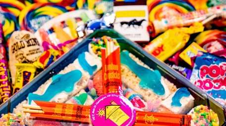 Try the candy sushi at Sweetie's Candy Cottage.