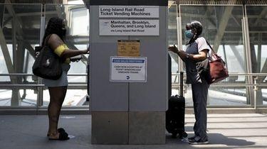 Long Island Rail Road passengers at Jamaica Station