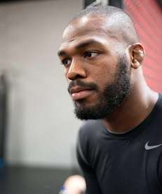UFC light heavyweight champion Jon Jones poses during