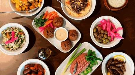 A selection of dishes at Beit Zaytoon in