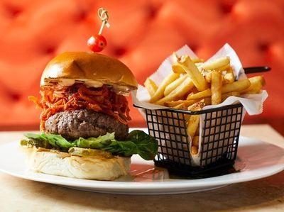 The Mama Burger at Mamajuana Cafe in Huntington
