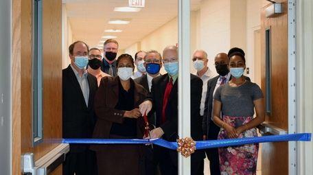 Shaw Avenue Elementary School held a ribbon-cutting ceremony