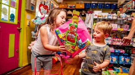 Charlotte, 5, and her brother Kevin Nathan, 3
