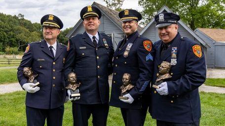 Nassau County police Deputy Chief James Bartscherer, left,
