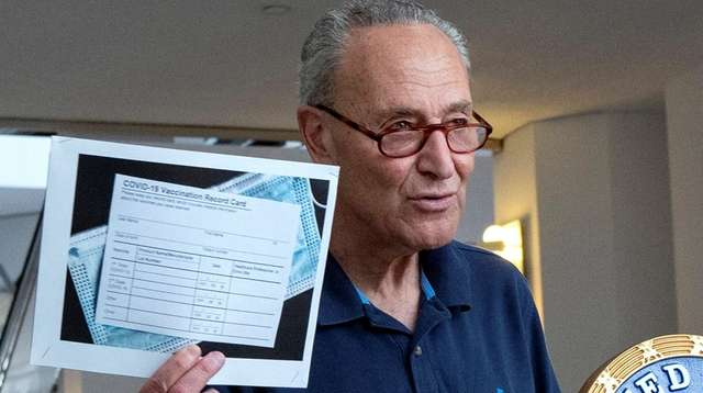 Senate Majority Leader Chuck Schumer talks about the