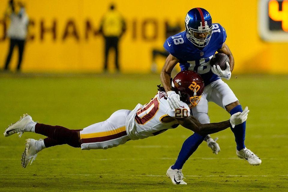 New York Giants wide receiver C.J. Board (18)