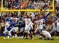 Washington Football Team kicker Dustin Hopkins (3) hits