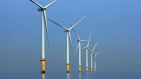 LIVERPOOL, UNITED KINGDOM - MAY 12: Turbines of