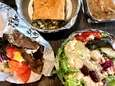 A spread of Greek food from Pete The