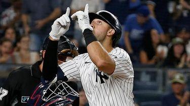 Joey Gallo of the New York Yankees celebrates
