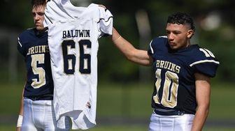Baldwin senior captains Zach Kirschner #5, left, and