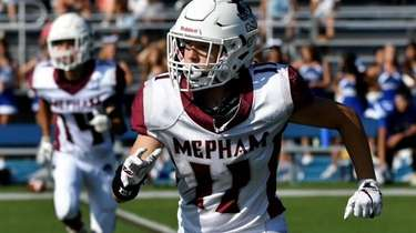Fifteen-year-old Sofia LaSpina, a wide receiver for the