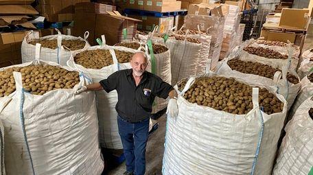 Potato sacks at Gabila's Knishes arrive at the