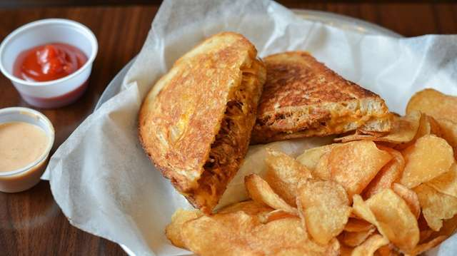 The Southern grilled cheese at AJ's Gourmet Grilled