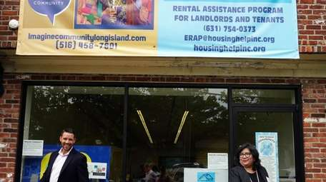 At the grand opening of Huntington's Emergency Rental