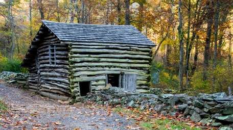 By Humpback Rocks, you'll find a visitor center,