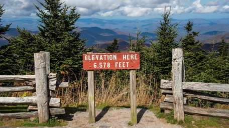 At 6,684 feet, Mount Mitchell, located in a