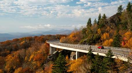 The Linn Cove Viaduct - an S-shaped elevated
