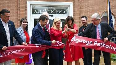 Officials at a ribbon-cutting ceremony on Friday at