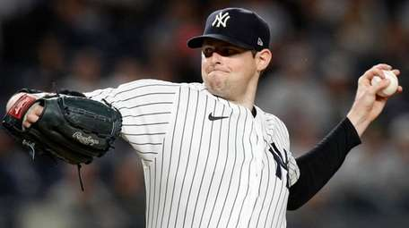 Jordan Montgomery of the Yankees pitches during the