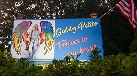 Billboard honoring Gabby Petito is seen at Montauk