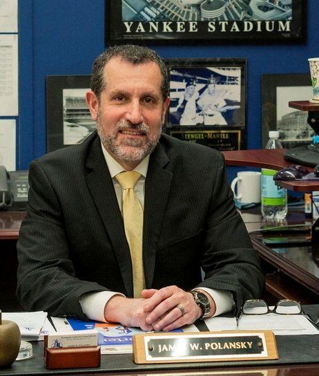 Huntington School Distrcit Superintendent James Polansky at his