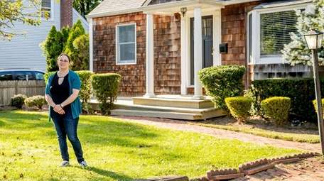 Homeowner Jessica Bernstein at her open house in