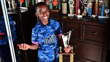 Tani Adewumi's newest chess trophy is nearly as