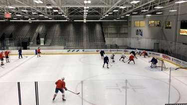 The Islanders held their first on-ice training camp