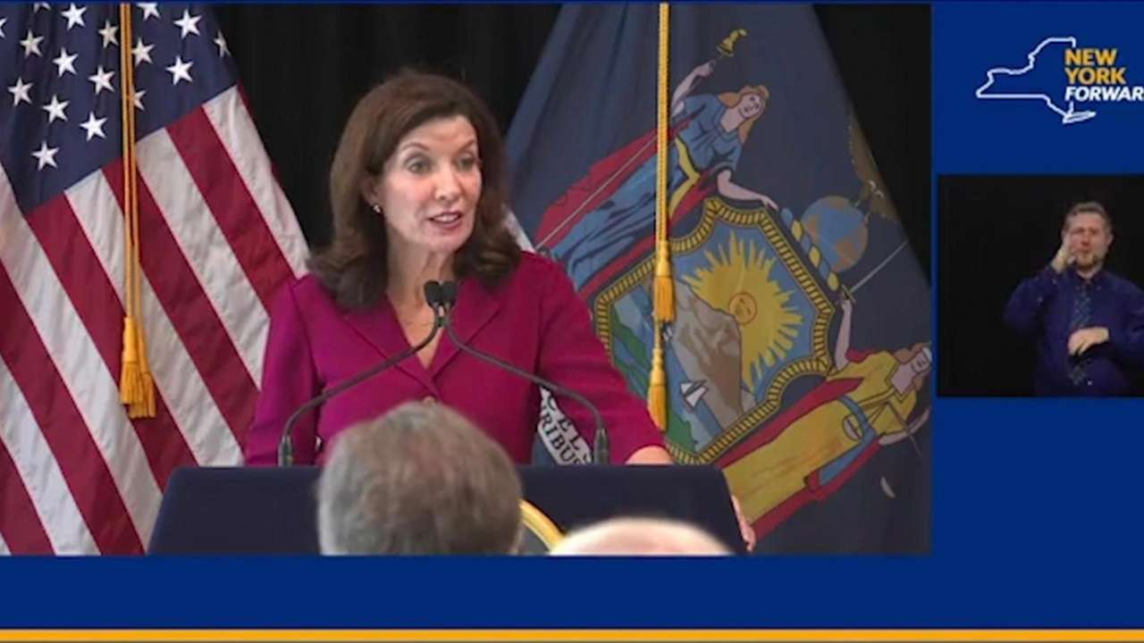 Gov. Kathy Hochul spoke at the opening of